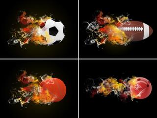 Collection sport balls