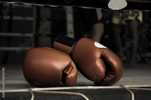 Fotobehang Vechtsporten Boxing Glove Vintage
