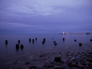 Abenddämmerung an der Seebrücke Sellin auf Rügen