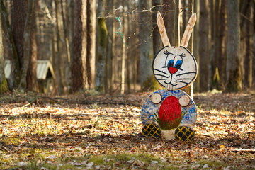Rabbit figure in the forest