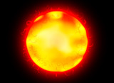 The sun geology nature background