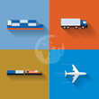 Transportation Concept Icon Set