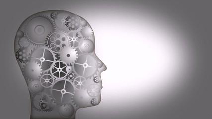 Zahnrad Zahnräder Denken Nachdenken Geist Wissen