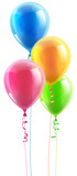 Fototapety Birthday party balloon set