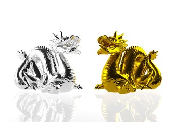 Silver dragon & Golden dragon