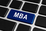 MBA or The Master of Business Administration button on keyboard poster