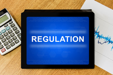 Regulation word on digital tablet