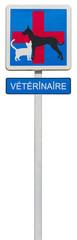 panneau indication vétérinaire