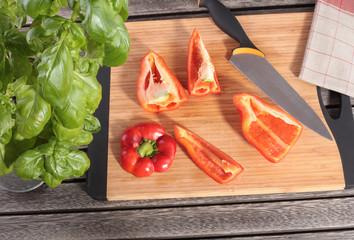 Paprika Zubereitung