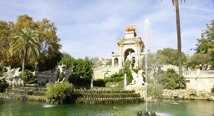 Estanque y fuente del parque de la Ciudadela, Barcelona