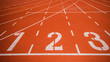 Leinwandbild Motiv Athletics track