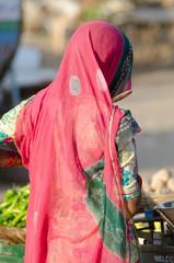 woman draped in saree , Rajasthan, India