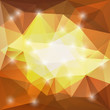 Brown and yellow triangle background with sparkle