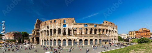 Fotobehang Rome Flavian Amphitheatre (Colosseum) in Rome, Italy
