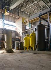 Industrial interior of heat power plant.