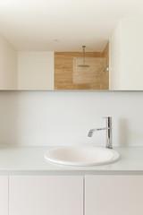 sink of a modern bathroom