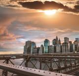 Manhattan skyline vierw from the bridge