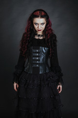 goth girl with a red hair