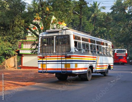 Leinwanddruck Bild Road near the Ponda. Goa. India