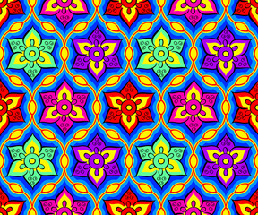 Seamless bright indian pattern