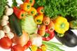 Multiple vegetables over white background