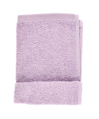 Folded terry towel isolated