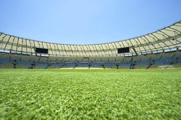 Maracana Football Stadium View from the Pitch