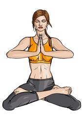 Lotus Yoga padmasana