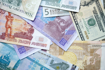 banknotes of different countries are