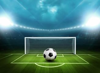 Stadium with soccer ball