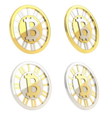 Bitcoin crypto currency coin isolated