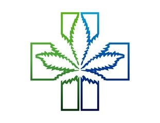 icon medicine alternative symbol marijuana logo nature
