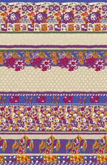 The repeat design of an ethnic flower_Color beige