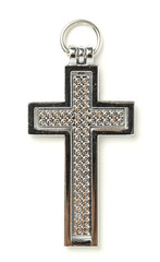 Stainless Locket Cross on White background