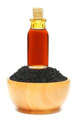 Nigella sativa or Black cumin with essential oil