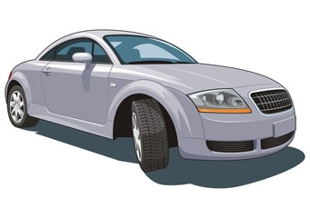 Vector isolated modern car