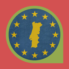 European Union Portugal marker button