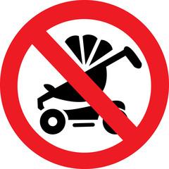 Векторный запрещающий знак, движение коляски запрещено.