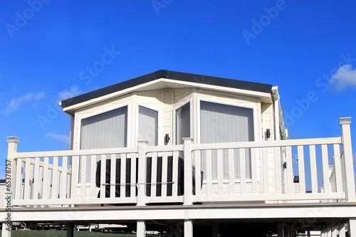 Exterior of caravan on a trailer park - 65378757