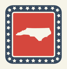 North Carolina American state button