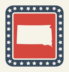 South Dakota American state button
