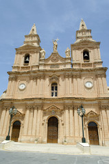 View of Parish Church - Mellieha, Malta