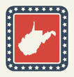 West Virginia American state button