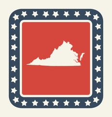 Virginia American state button