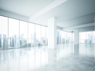 bright empty office interior