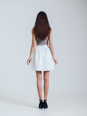 Girl in beautiful skirt. model