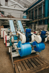 Flexo press for printing label. photo