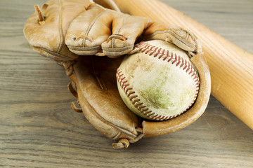 Old Baseball Equipment
