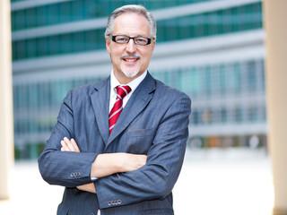Mature businessman smiling