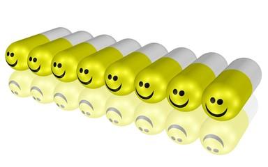 Gute-Laune-Kapseln, psychisch wirksame Medikamente
